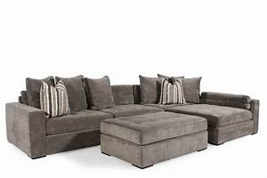 Jonathan louis noah gray sectional mathis brothers furniture for Sectional sofa mathis brothers