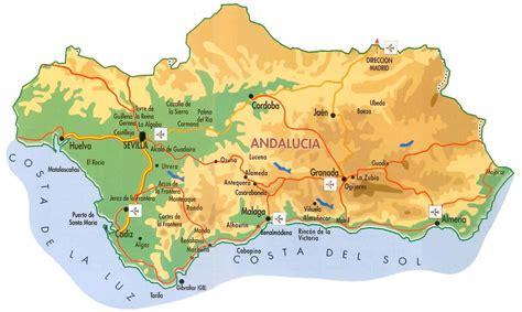 Espagne Carte Andalousie