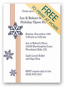 Make Free Printable Christmas Party Invitations & Holiday