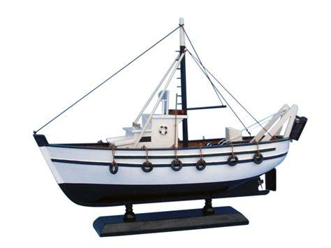 Fishing Boat Model by Buy Wooden Seaworthy Model Fishing Boat 14 Inch