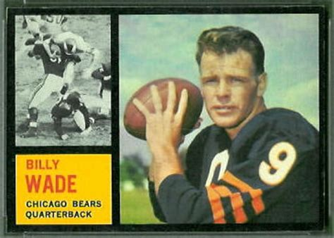 bill wade  topps  vintage football card gallery