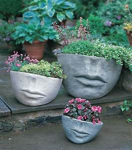 Face, Sculpture, Planters, Are, Still, Trendy, And, Darling
