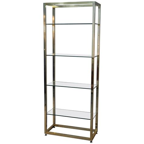 Glass Etageres by Brass And Glass Etagere For Sale At 1stdibs