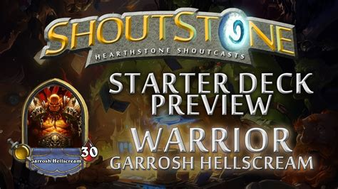 Hearthstone Starter Deck Series Warrior Garrosh
