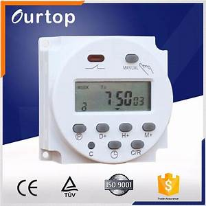 16a 220v Ac Weekly Programmable Time Switch Daily Manual