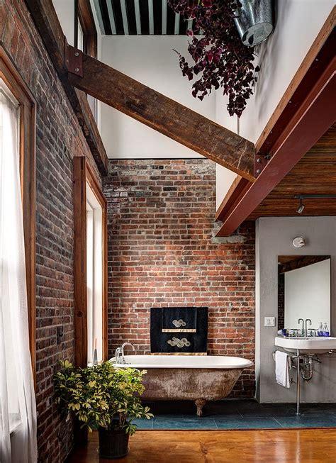 exposed brick wall rugged and ravishing 25 bathrooms with brick walls