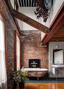 rugged and ravishing 25 bathrooms with brick walls With salle de bain style loft