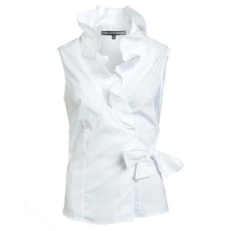ruffled white blouse sleeveless white ruffle blouse