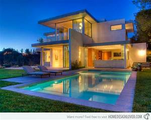 15 lovely swimming pool house designs decoration for house With house with swimming pool design
