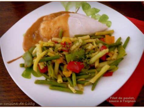 cuisine filet de poulet recettes de filet de poulet et oignons