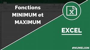 Minimum Maximum Berechnen : fonctions minimum et maximum excel guide pour l 39 utiliser ~ Themetempest.com Abrechnung