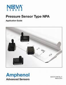 Amphenol Pressure Sensor Type Npa Advanced Sensors
