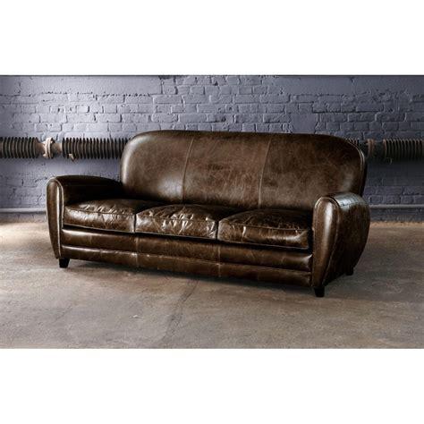 vintage sofa leder vintage sofa 3 sitzer aus leder braun oxford maisons du monde