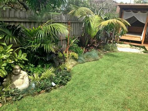 tropical style gardens tropical oasis garden northern beaches balinese style landscapers sydney