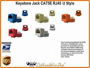 Cat5e   Rj45 Keystone Voice Data Jack Blue H