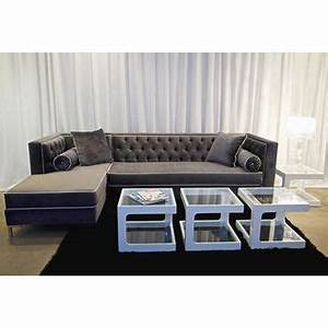 decenni tobias regency velvet tufted 8 foot sectional by With 8 ft sectional sofa