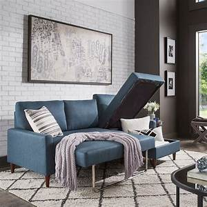 Parker, Convertible, Sofa, With, Right, Facing, Storage, Chaise, By, Inspire, Q, Modern, 36295177