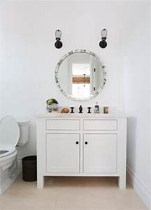 round capiz shell powder room mirror transitional bathroom With kitchen colors with white cabinets with capiz shell wall art