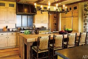 rustic kitchen island lighting rustic kitchens a beautiful collection from architectural digest liz 39 s interior design