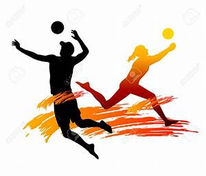 Volleyball And Basketball Clipart - ClipartXtras
