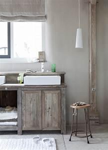 Meuble Bois Brut : meuble en bois brut ambiance nature ~ Teatrodelosmanantiales.com Idées de Décoration