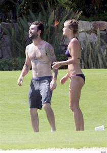 Adam Levine Enjoys a Beach Vacation With New Girlfriend ...