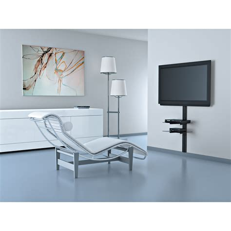 cache cable tv mural meliconi line cover noir 480510 achat vente support mural tv sur ldlc