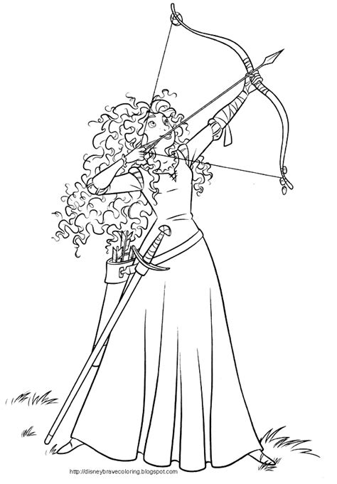 Coloring Sheet by Brave Merida Coloring Pages