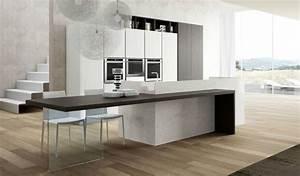 Plan Travail Pierre : plan de travail cuisine moderne en pierre et bois ~ Nature-et-papiers.com Idées de Décoration