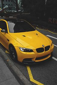 Yellow BMW M3 Sports Car