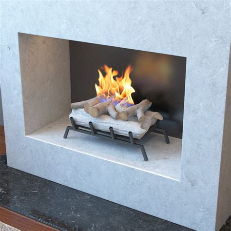 Birch Logs For Fireplace by 18 Inch Birch Convert To Ethanol Fireplace Log Set With