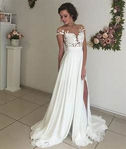 elegant lace wedding dresses beach wedding gown sexy see With classy dresses for weddings