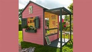 Maison De Jardin En Bois Enfant : une cabane pour enfants dans le jardin ~ Dode.kayakingforconservation.com Idées de Décoration