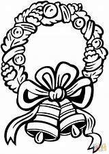 Bells Coloring Wreath Christmas Jingle Pages Drawing Bell Printable Colouring Sheet Getdrawings Getcolorings Dot Paper Games sketch template
