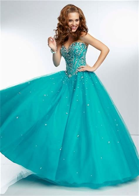 ball gown sweetheart sheer illusion  long aqua tulle
