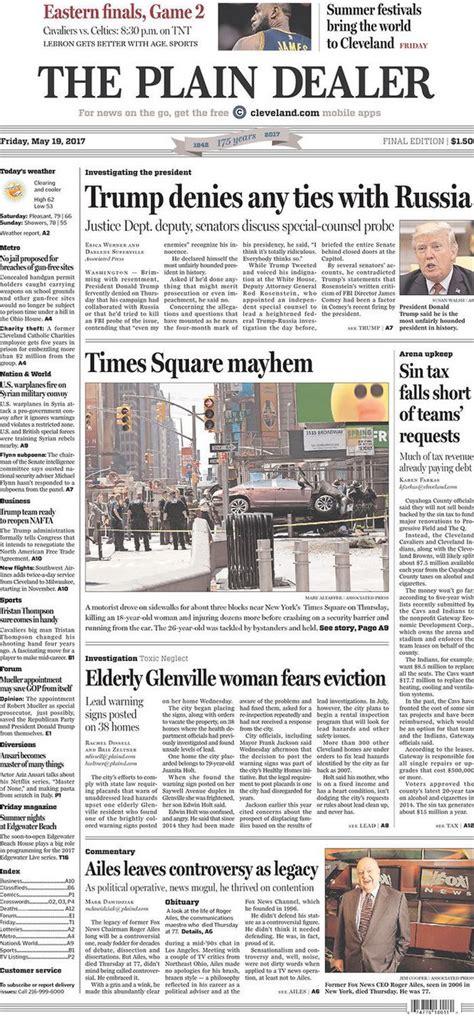 plain dealers front page     clevelandcom