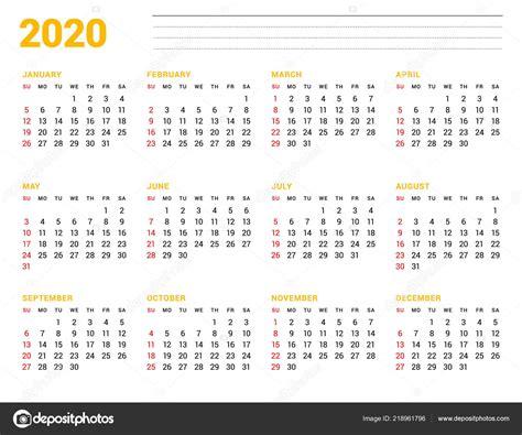 plantilla calendario ano diseno papeleria semana
