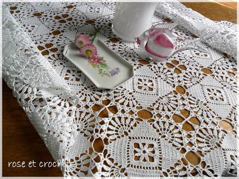 nappe crochet patron gratuit modele crochet nappe gratuit