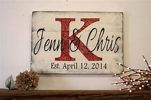 personalized name sign custom name sign wedding gift bridal With wedding gift name sign