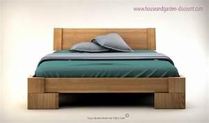 Lit Bois Massif Design : lit en bois massif design pour chambre adulte veron ~ Teatrodelosmanantiales.com Idées de Décoration