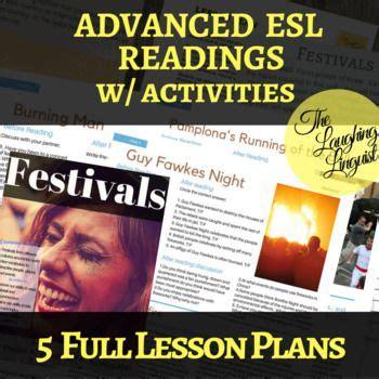 festivals readings  full lesson plans  esl