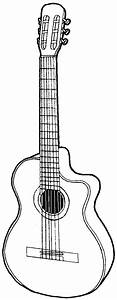 How to Draw a Guitar with Easy Step by Step Drawing ...
