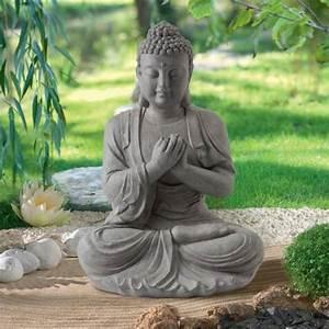 Statue de jardin Zen Bouddha Hauteur 60 cm : vente Statue de jardin Zen Bouddha Hauteur 60 cm