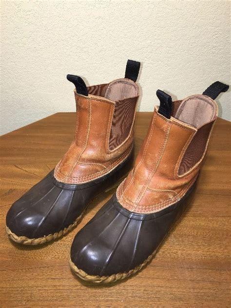 cabelas waterproof leather rubber steel shank duck boots