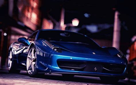 car ferrari ferrari  italia blue cars wallpapers hd