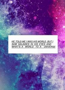 awww, galaxy, i love you, love, quotes, sad quotes ...