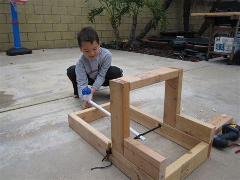Pumpkin Chunkin Trebuchet Designs by Easy Backyard Catapult For Hero Dads Do It Yourself