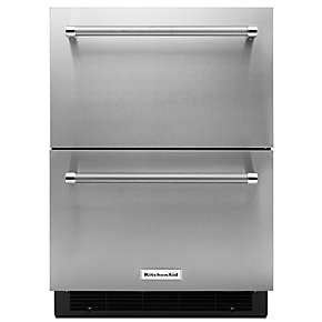 double refrigerator freezer drawers kitchenaid