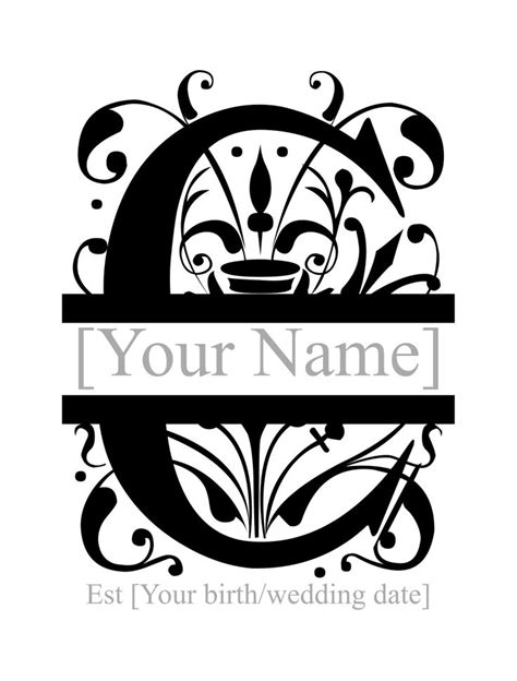 split monogram personlised  monogram fonts cricut monogram