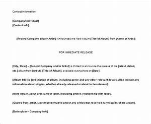 press release template 29 free word excel pdf format With artist press release template